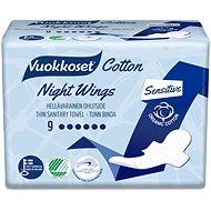 VUOKKOSET Cotton Night Wings 9 ks - Eko menštruačné vložky