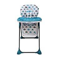 BOMIMI SELENA – modrá so slonmi - Jedálenská stolička