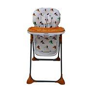 BOMIMI SELENA – oranžová so psíkmi - Jedálenská stolička
