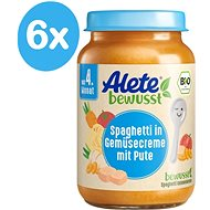 ALETE BIO Príkrm Špagety so zeleninovou omáčkou a morčacím mäsom 6× 190 g - Príkrm