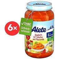 ALETE BIO Príkrm Špagety s paradajkami a mozzarellou 6× 220 g - Detský príkrm