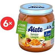 ALETE Príkrm Zeleninové lasagne 6× 250 g - Detský príkrm