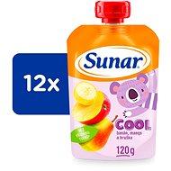 Sunárek cool ovocie Hruška, Banán, Mango 12× 120 g - Príkrm