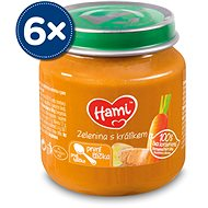 Hami First Spoon Vegetables with Rabbit 6 × 125g - Baby Food