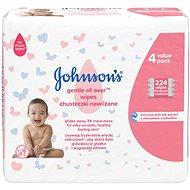 JOHNSON'S BABY Wipes Gentle All Over 224 ks - Detské vlhčené obrúsky