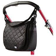 Caretero Prešívaná taška na kočík– black - Taška na kočík