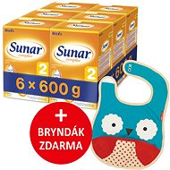 Sunar Complex 2  (6× 600 g) + darček - Dojčenské mlieko
