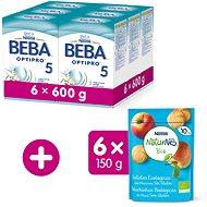 BEBA OPTIPRO 5 (6× 600 g) + NESTLE NATURNES BIO Sušienky, 6× 150 g