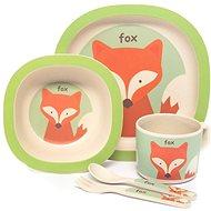 Zopa Bambusová sada riadu – Fox - Detská jedálenská súprava