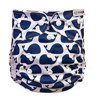 T-tomi AIO Prebaľovacia súprava patentky, Whales - Plienkové nohavičky
