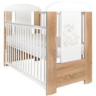 New Baby Teddy Bear with Drawer - Oak - Cot