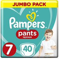 PAMPERS Pants Jumbo Pack, vel. 7 (40 ks)