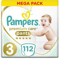 PAMPERS Premium Pants Mega Box vel. 3 (112 ks)
