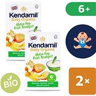 Kendamil Bio/organická bezlepková ovocná kaša 2× 150 g