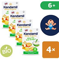 Kendamil Bio/organická bezlepková ovocná kaša 4× 150 g
