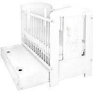 New Baby Králik so zásuvkou – biela - Detská postieľka