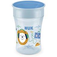 NUK hrnček Magic Cup s viečkom 230 ml – modrý - Detský hrnček