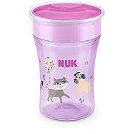 NUK hrnček Magic Cup s viečkom 230 ml – ružový - Detský hrnček