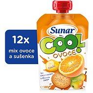 Sunárek Cool ovocie Pomaranč, banán, sušienka 12× 120 g - Príkrm