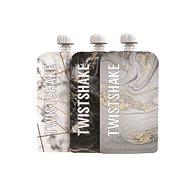 TWISTSHAKE Plniteľná kapsička 3× 220 ml – mramorovo sivá - Plniteľná kapsička