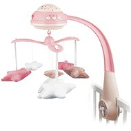 CANPOL BABIES Kolotoč hviezdičky – ružový - Kolotoč nad postieľku