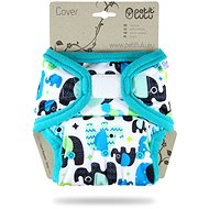 PETIT LULU One Size Nappy (Hook & Loop) - Elephants - Nappies
