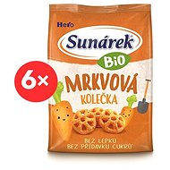 Sunárek Bio chrumky mrkvové kolieska 6× 50 g - Chrumky pre deti