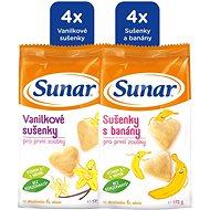 Sunar Vanilkové a banánovej sušienky 6 × 175 g - Sušienky pre deti
