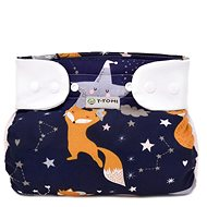 T-tomi Abduction Nappies - Briefs  Night Foxes (5-9 kg) - Abduction Nappies