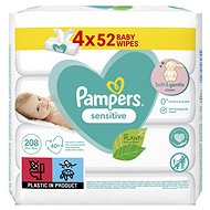 PAMPERS Sensitive 4×52pcs - Baby Wet Wipes