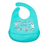 Canpol babies Podbradník silikónový s vreckom WILD NATURE modrý - Podbradník
