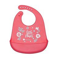 Canpol babies Silicone Bib with Pocket WILD NATURE Pink - Bib
