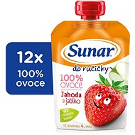 Sunárek Strawberry Handheld Drink 12 × 100g - Baby Food