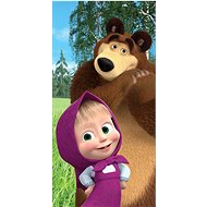 "Jerry Fabrics osuška – Máša a medveď ""Forest"" - Detská osuška"