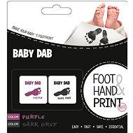 Baby Dab Farba na detské odtlačky – fialová, sivá - Detská súprava