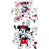 Jerry Fabrics ložní povlečení - Mickey&Minnie retro heart
