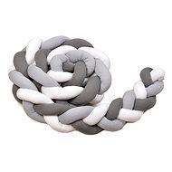 T-tomi Pletený mantinel 360 cm, white + grey + anthracite - Mantinel do postielky