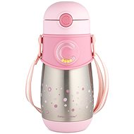 Canpol Babies Thermo Bottle with straw 300ml pink - Children's Thermos