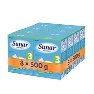Sunar Standard 3, 8× 500 g - Dojčenské mlieko