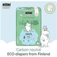 MUUMI BABY Walkers Maxi veľkosť 4 – mesačné balenie (120 ks) - Eko plienkové nohavičky