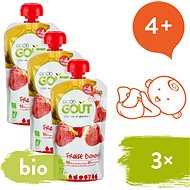 Good Gout BIO Strawberry with Banana 3 × 120g - Baby Food