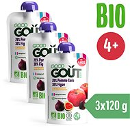 Good Gout BIO Apple and Figs 3 × 120g - Baby Food