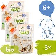 Good Gout BIO Detská ovsená, pšeničná a ryžová instantná kaša v prášku 3× 200 g