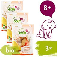 Good Gout BIO Mangové vankúšiky 3× 50 g - Sušienky pre deti