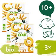 Good Gout BIO Vanilkové kolieska 3× 80 g - Sušienky pre deti