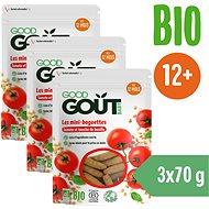 Good Gout Mini bagetky s rajčinkami 3× 70 g - Chrumky pre deti