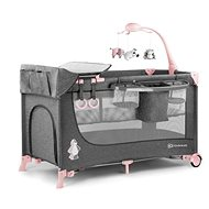 Kinderkraft Joy Pink - Cestovná postieľka
