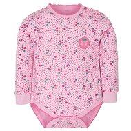 Gmini Mačička body dlhý rukáv ružové 62 - Dojčenské body