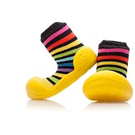ATTIPAS RainBow Yellow Size L - Baby Booties