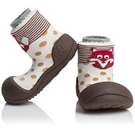 ATTIPAS Zoo Brown size L - Baby Booties